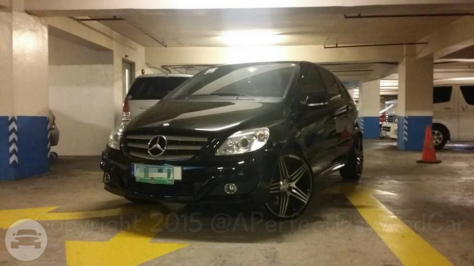 Black Mercedes Benz B-Class Sedan  / Makati, Metro Manila   / Hourly ₱0.00