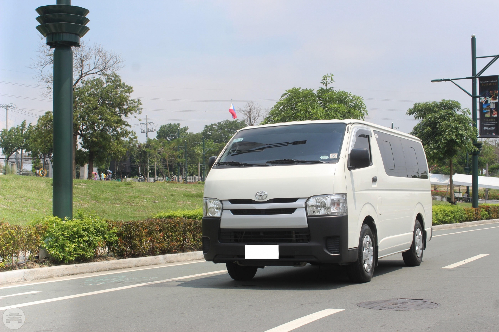 15-18 Seater Toyota Hiace Commuter Van  / Taguig, Metro Manila   / Airport Transfer ₱3,000.00  / Daily ₱3,500.00