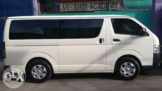 Toyota Hi-Ace Commuter 2017 Van / Manila, Metro Manila   / Hourly (City Tour) ₱800.00  / Airport Transfer ₱2,500.00  / Daily ₱3,500.00